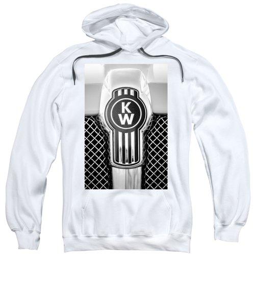 Kenworth Truck Emblem -1196bw Sweatshirt
