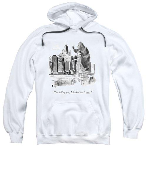 King Kong, Atop The Williamsburgh Savings Bank Sweatshirt