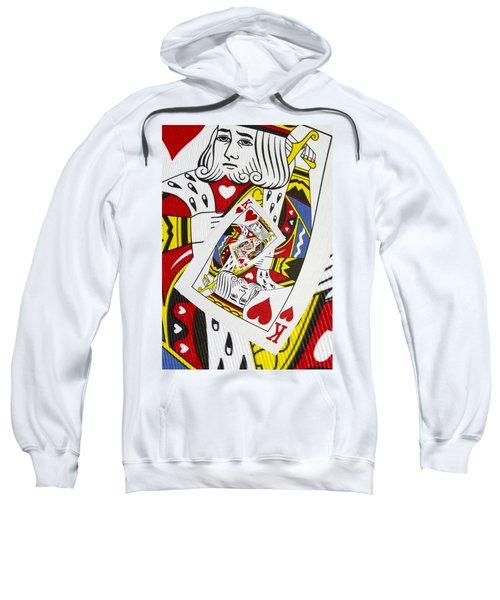 King Of Hearts Collage Sweatshirt