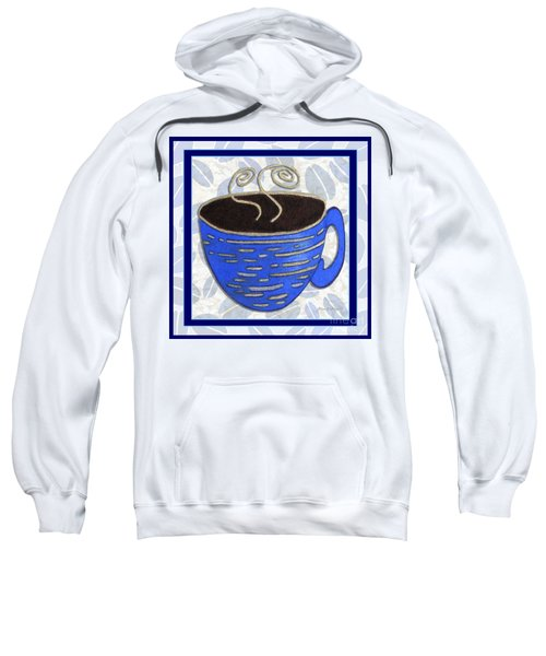 Kitchen Cuisine Hot Cuppa No89 V2 By Romi And Megan Sweatshirt