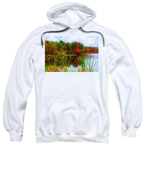 Lake In Early Fall Sweatshirt