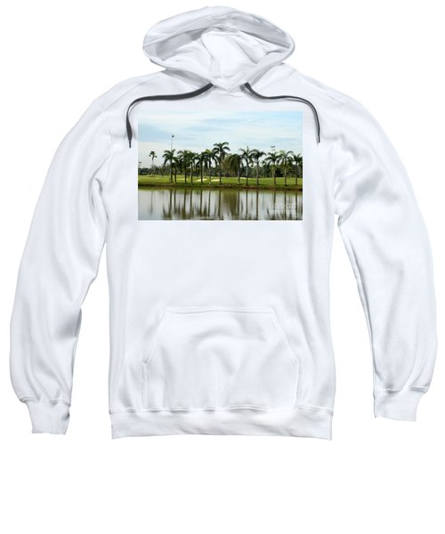 Lake Sand Traps Palm Trees And Golf Course Singapore Sweatshirt