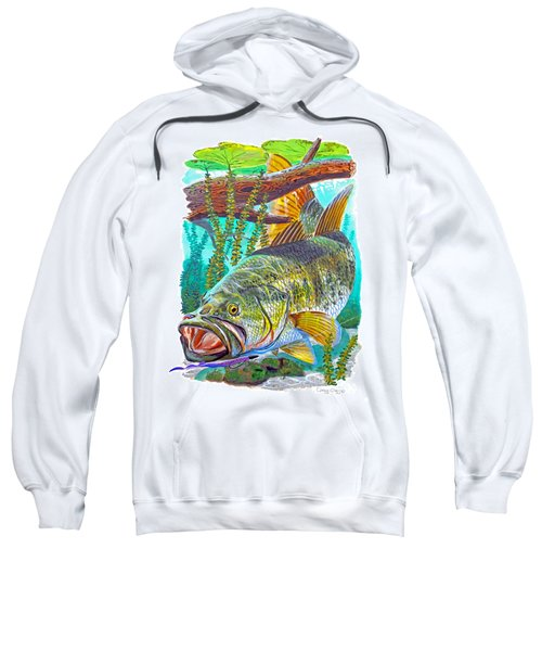Largemouth Bass Sweatshirt by Carey Chen