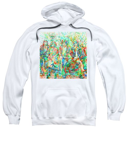 Led Zeppelin - Watercolor Portrait.1 Sweatshirt by Fabrizio Cassetta
