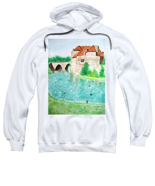Sweatshirt featuring the painting Leeds Castle  by Denise Railey