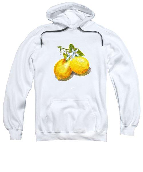 Lemons And Blossoms Sweatshirt by Irina Sztukowski