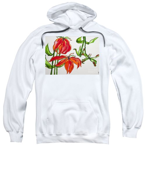 Lilies In Orange Sweatshirt