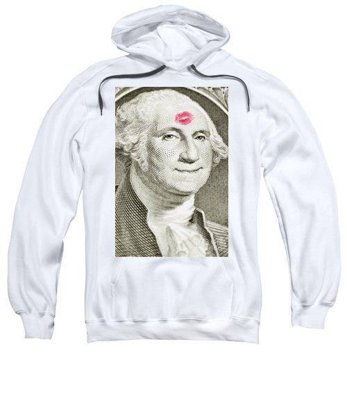 Lipstick Kiss On One Dollar Bill Sweatshirt