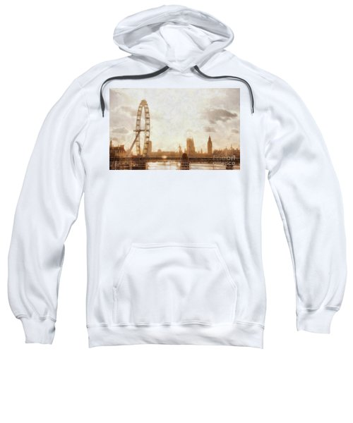 London Skyline At Dusk 01 Sweatshirt by Pixel  Chimp