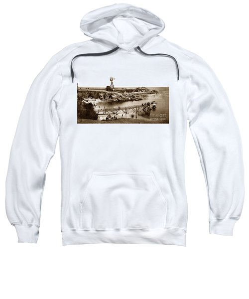 Lovers Point Beach And Old Wooden Pier Pacific Grove August 18 1900 Sweatshirt