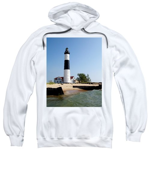 Ludington Michigan's Big Sable Lighthouse Sweatshirt