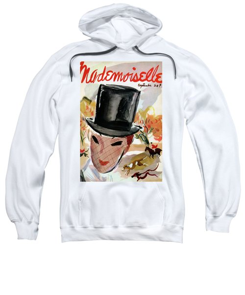Mademoiselle Cover Featuring A Female Equestrian Sweatshirt