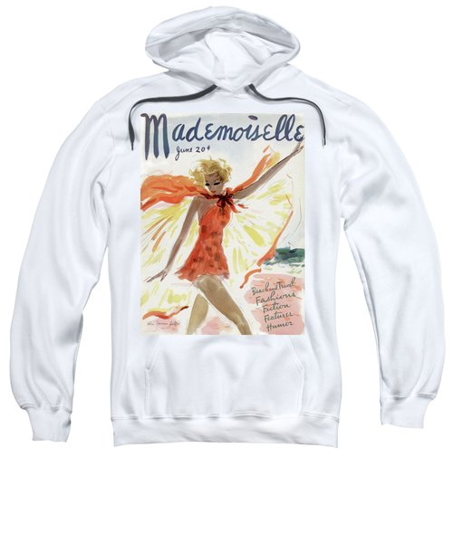 Mademoiselle Cover Featuring A Model At The Beach Sweatshirt