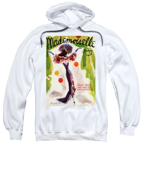 Mademoiselle Cover Featuring A Model Wearing Sweatshirt