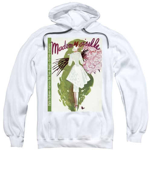Mademoiselle Cover Featuring A Woman Carrying Sweatshirt