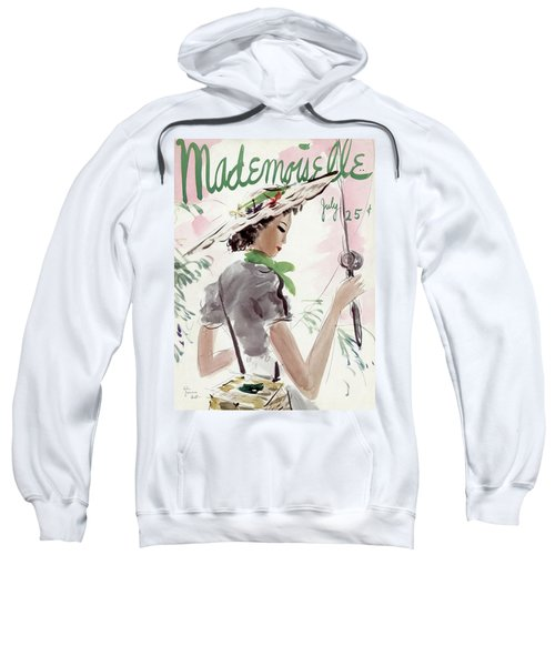 Mademoiselle Cover Featuring A Woman Holding Sweatshirt