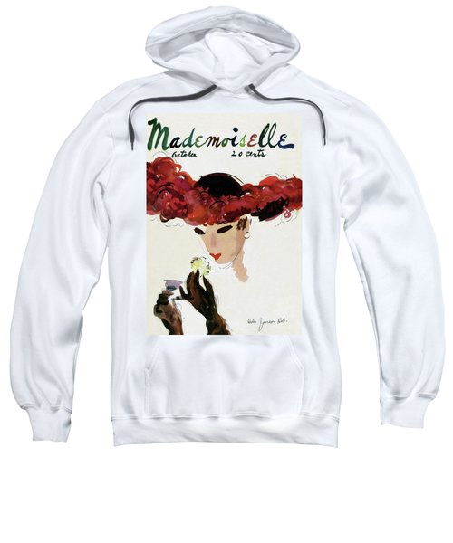 Mademoiselle Cover Featuring A Woman In A Red Sweatshirt