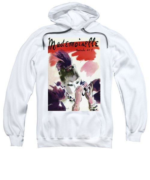 Mademoiselle Cover Featuring A Woman Looking Sweatshirt