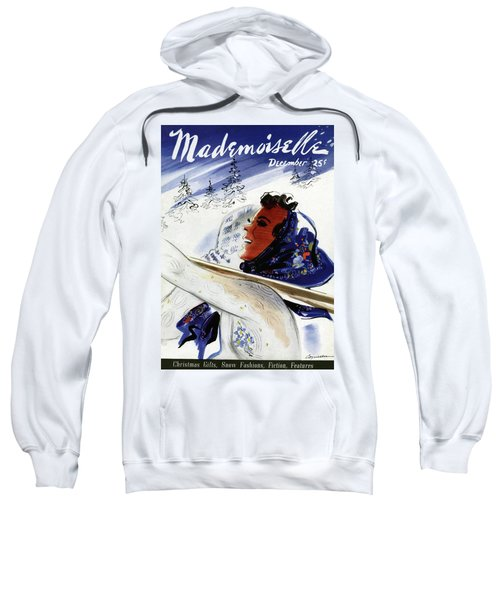 Mademoiselle Cover Featuring An Illustration Sweatshirt