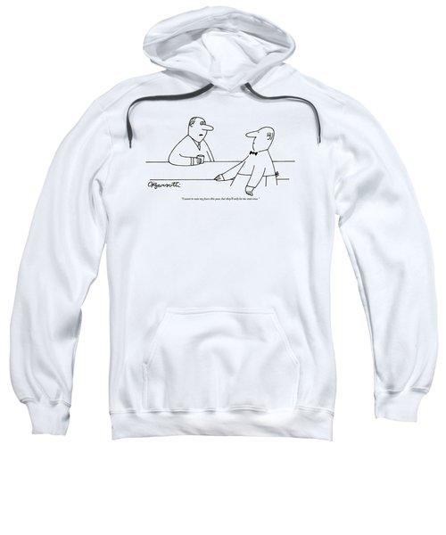Man To Bartender Sweatshirt