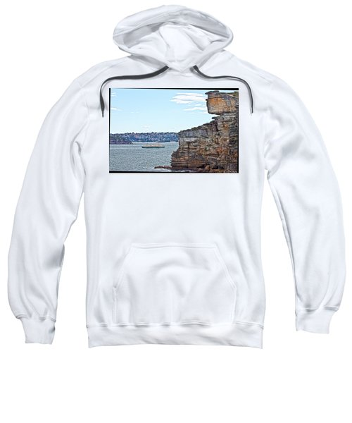 Sweatshirt featuring the photograph Manly Ferry Passing By  by Miroslava Jurcik