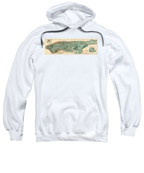 Map Of Manhattan Sweatshirt