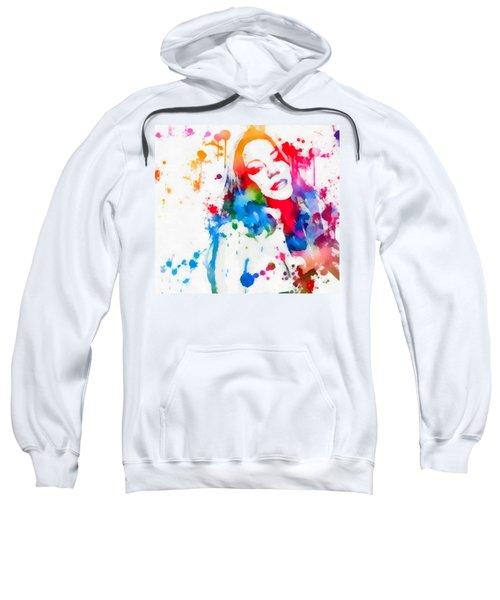 Mariah Carey Watercolor Paint Splatter Sweatshirt