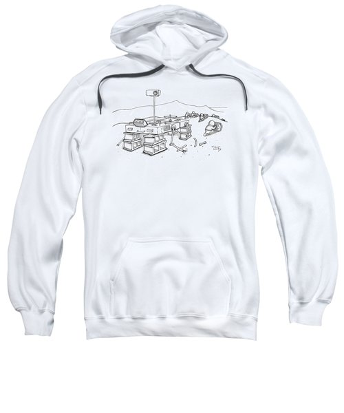 Martians Are Stealing The Tires On A Martian Sweatshirt