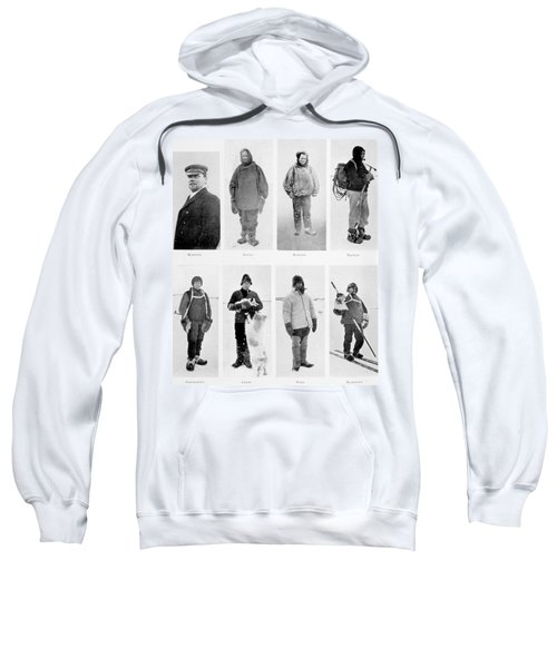 Members Of The British Antarctic Expedition At The Start Of The Journey Sweatshirt