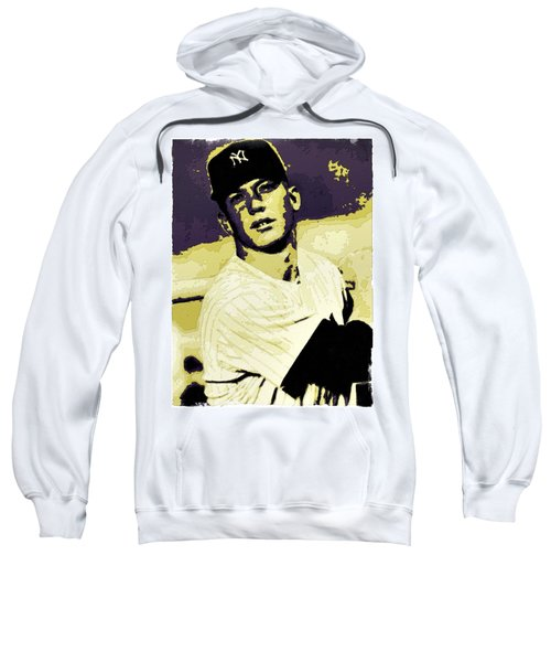 Mickey Mantle Poster Art Sweatshirt by Florian Rodarte