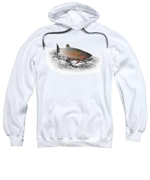 Migrating Steelhead Rainbow Trout Sweatshirt