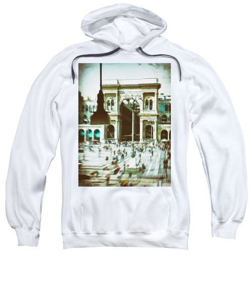 Sweatshirt featuring the photograph Milan Gallery by Silvia Ganora