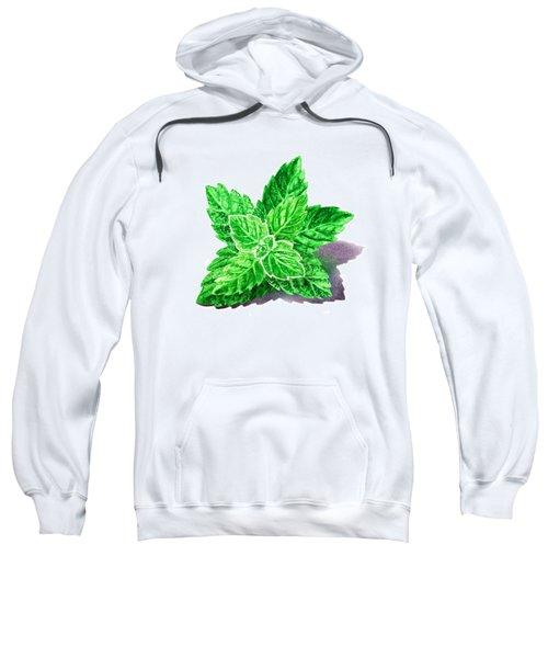 Mint Leaves Sweatshirt by Irina Sztukowski