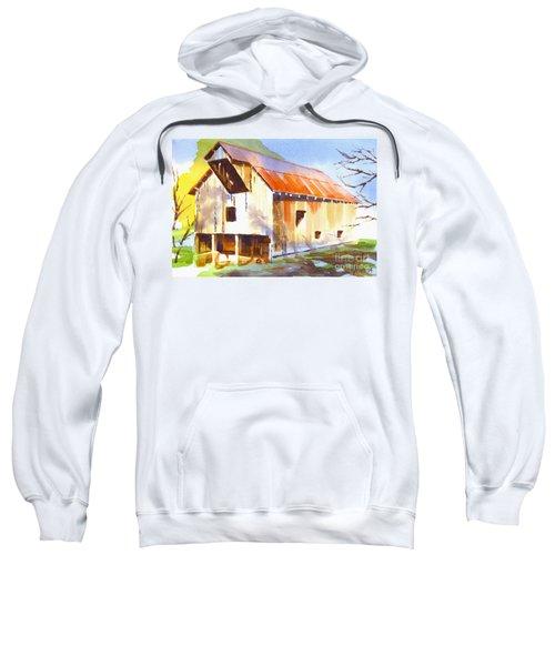 Missouri Barn In Watercolor Sweatshirt