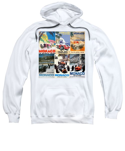 Monaco F1 Grand Prix Vintage Poster Collage Sweatshirt