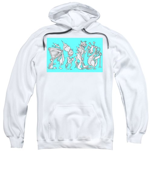 Monster Queue Blue Sweatshirt