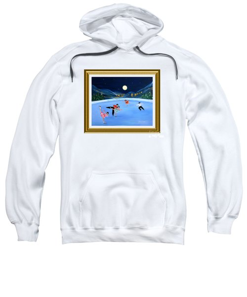 Moonlight Skating. Inspirations Collection. Card Sweatshirt