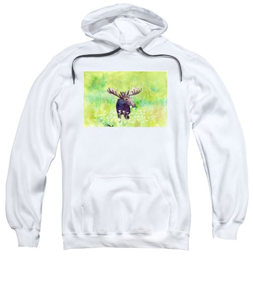 Moose In Flowers Sweatshirt