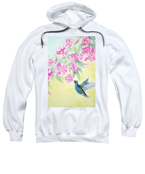 Morning In My Garden. Card Sweatshirt