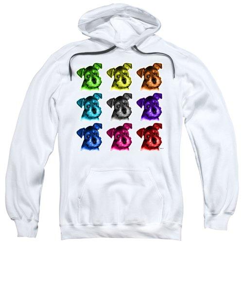 Mosaic Salt And Pepper Schnauzer Puppy 7206 F - Wb Sweatshirt
