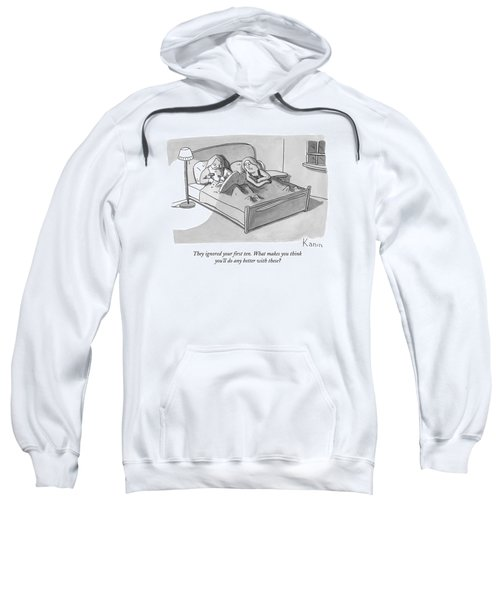 Moses In Bed Carving New Commandments Sweatshirt