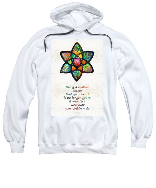 Mother Mom Art - Wandering Heart - By Sharon Cummings Sweatshirt