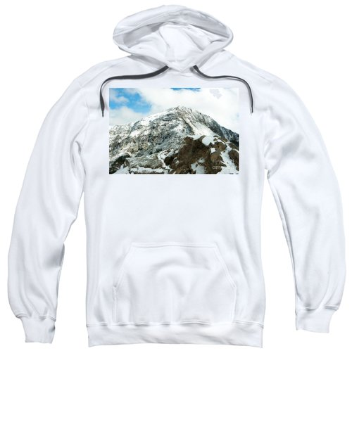 Mountain Covered With Snow Sweatshirt