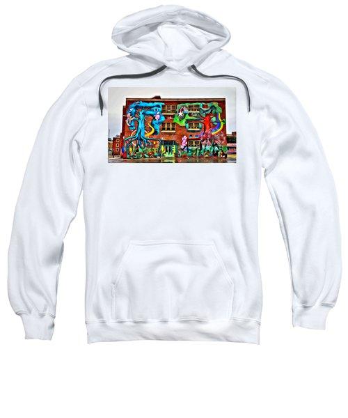 Mural On School Sweatshirt