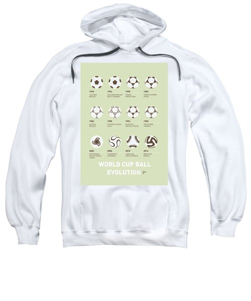 My Evolution Soccer Ball Minimal Poster Sweatshirt