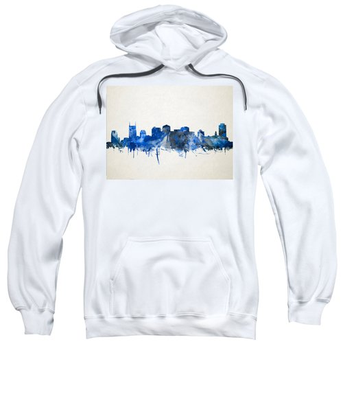 Nashville Skyline Watercolor 11 Sweatshirt