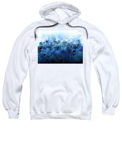 Nashville Skyline Watercolor 3 Sweatshirt