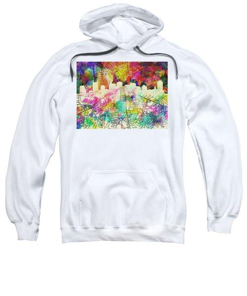 Nashville Skyline Watercolor 7 Sweatshirt