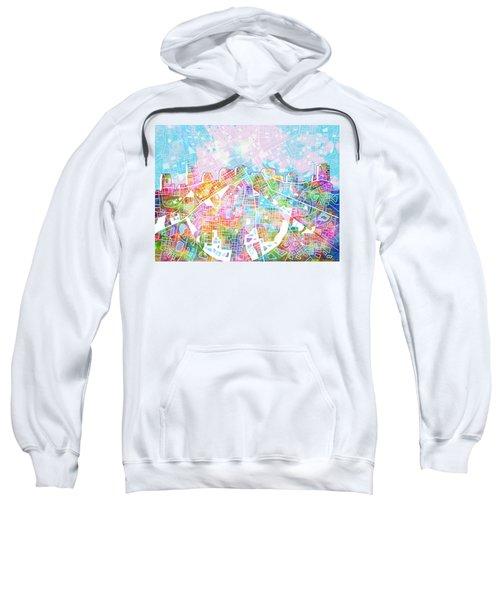 Nashville Skyline Watercolor 8 Sweatshirt