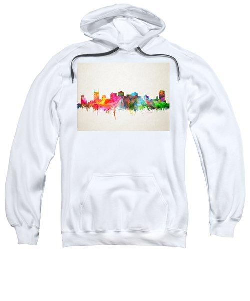 Nashville Skyline Watercolor 9 Sweatshirt